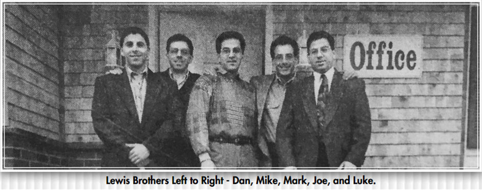 Lewis Brothers, Left to Right - Dan, Mike, Mark, Joe, and Luke.